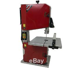 8 Bench Top Woodworking Bandsaw 230v with Blade 80mm Cutting Depth 200m Throat
