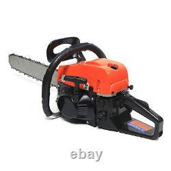 80cc Gas Powered Chainsaw 20 inch 2 Stroke Cutting Wood Gasoline Chain Saw 9000W