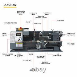 8x16 Benchtop Mini Metal Lathe Cutting Machine for Wood & Metal 750W 2250rpm