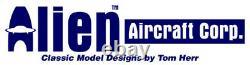 Alien Aircraft 42 Inch Piper J3 J-3 Laser Cut Balsa Wood RC Airplane Kit