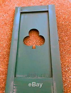 Antique Shutters Shamrock Cut Outs from Old New England Colonial Home