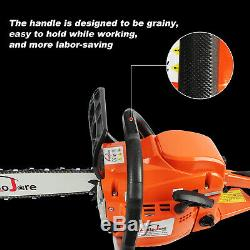 Autojare Cordless Gas Powered Chainsaw 20 inch Wood cutting Aluminum Crankcase