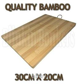 Bamboo Wood Wooden Chopping Board Kitchen Food Cutting Slicing Serving Platter