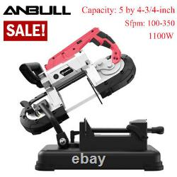 Band Saw with Base 1100W 5 Deep Cut Variable Speed for Metal Wood Fiberglass