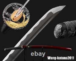 Battle Ready 1095 Steel Japanese Samurai Katana Sharp Practice Sword Cut bamboo