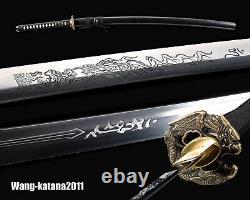 Battle Ready Sharp 1095 Steel Practice Katana Japanese Samurai Sword Cut Bamboo