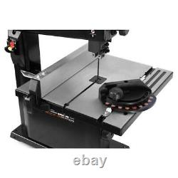 Benchtop Band Saw Adjustable Powerful Blade Guard Cut Dust Port Black Power Tool