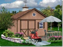 Best Barns Brandon 12x16 Wood Storage Shed Kit ALL Pre-Cut
