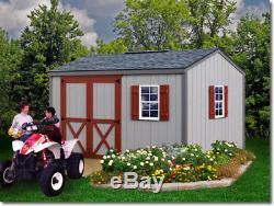 Best Barns Cypress 12x10 Wood Storage Shed Kit ALL Pre-Cut