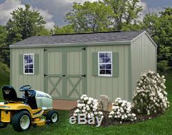 Best Barns Cypress 16x10 Wood Storage Shed Kit ALL Pre-Cut