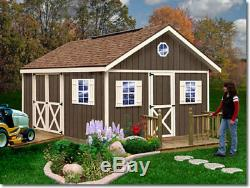 Best Barns Fairview 12x16 Wood Storage Shed Kit ALL Pre-Cut