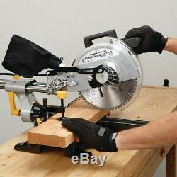 Bevel Sliding Compound Miter Saw With Laser Guided Precision Cutting Tool