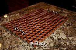 Big 3D Double Pop End Grain Cutting Board
