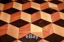 Big 3D QBert End Grain Cutting Board