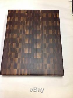 Black Walnut Butcher Block Cutting Board NEW End Grain 18 X 22 With Sap Pattern