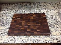 Black Walnut Butcher Block Cutting Board New End Grain 14 X 18 Sap Pattern