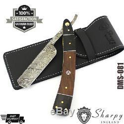 Blacksmith Handmade Damascus Steel Straight Razor Cut Throat Beautiful Gift Set
