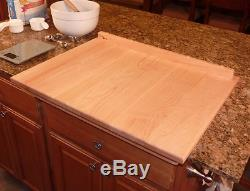 Bread Kneading Board Pastry Cutting Board Dough Large Pizza Maple Wood Kitchen