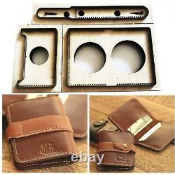 Card Holder Wallet Cutting Mold Wood Dies Leather Cutter Japan Steel Blade Die