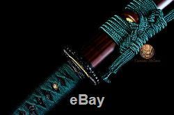 Clay Tempered Japanese Samurai Katana T10 Steel Cutting Blade Sword Razor Sharp