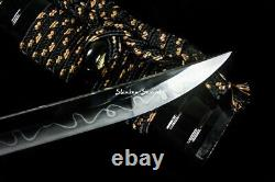 Clay Tempered Japanese Samurai Katana T10 Steel Razor Sharp Cutting Blade Sword