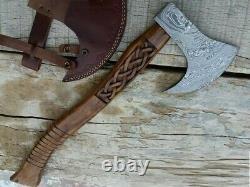 Custom Handmade Steel Hatchet Tomahawk Hunting Axe With Engraving