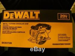DEWALT DCS373B 20V MAX Lithium Ion 5-1/2 Metal Cutting Circular Saw New