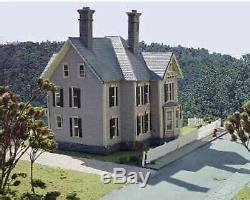 DUBOIS HOUSE HO Model Railroad Structure Unpainted Laser-Cut Wood Kit LA600