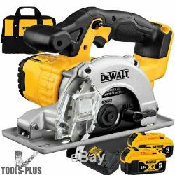 DeWalt DCS373B 20V MAX Metal Cutting Circular Saw with2 5.0ah Batteries New
