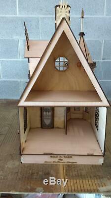 Dolls House Miniature 112 Lazer Cut Victorian Gothic Cottage Flat Pack Kit