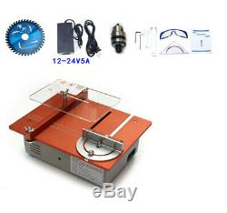 Dual Motor Aluminum Mini Table Saw DIY Cutter Acrylic Wood PCB Cutting machine