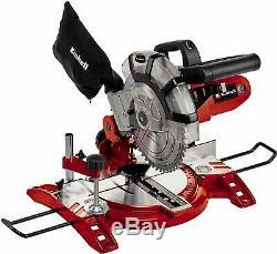 Einhell 1600 W Compound Mitre Saw Rotating Sliding Unit Cutting Blade 5000rpm