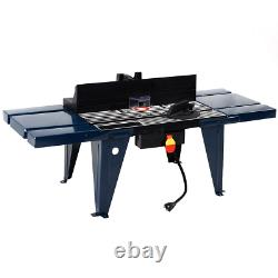 Electric Aluminum Router Table Routing Wood Working Tool Benchtop Craftsman Tool
