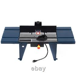 Electric Aluminum Router Table Wood Working Craftsman Tool Benchtop (Limited)