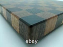 End Grain Cutting Board Walnut and CherryFree Shipping