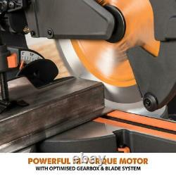 Evolution 10 Sliding Compound Miter Saw Laser Guide Dust Bag Cut Multi Material