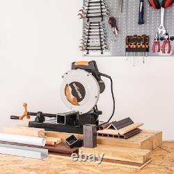 Evolution Multi Purpose Chop Saw Cutting Steel Aluminum Wood Cut 10 Amp Motor