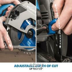 Evolution S185CCSL 7-1/4 Metal Cutting Circular Saw with Mild Steel Blade