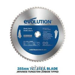 Evolution S355CPS Raptor 355mm TCT Steel Cutting Chop Saw 240volt