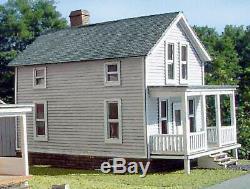 FINLEY HOUSE S Scale Model Railroad Structure Unpainted Laser-Cut Wood Kit LA525