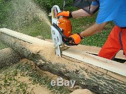 Forest Sawmill Wood Lumber Maker Cut Off Chain Saw Attachment Board Plank Tool