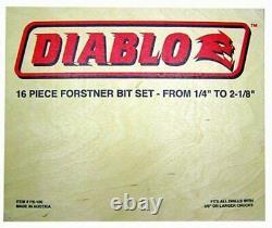 Freud FB-100 16PC Diablo Forstner Drill Bit Set