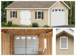 Garage Man Cave She Shed Workshop Storage Shed Pre-Cut and Pre-Drilled 12x26ft