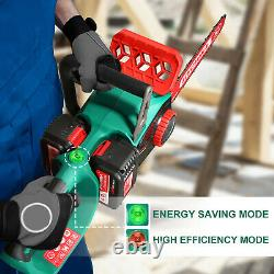 HYCHIKA Chainsaw 40V Max Brushless Low Kickback 2pcs 4Ah Batteries Wood Cutting