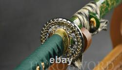 Hand Forged T1095 Carbon Steel Katana Very Sharp Japanese Sword sword Cut Trees
