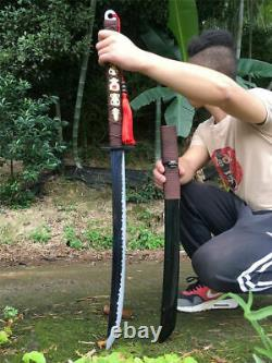 Handmade Saber Broadsword Cut Horse Dao Sword Sharp High Manganese Steel Blade