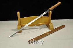 Handmade T1095 steel Chinese Shirasaya Rosewood Jian sword cut bamboo Sharp