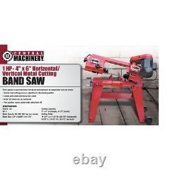Heavy Duty DIY 1 HP 4 in. X 6 in. Horizontal Vertical Metal Cutting Band Saw