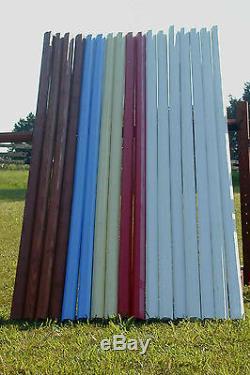 Horse Jumps 10ft Bundle/6 Colored CUT Wood Rails Color Choice