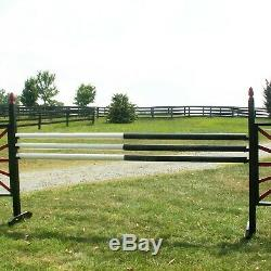 Horse Jumps 10ft Bundle/6 Half & Half CUT Wood Rails Color Choice
